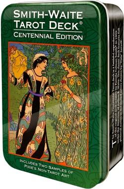 The Smith-Waite Centennial Tarot (metāla kastītē)
