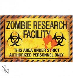 Zīme «Zombiju zinātniskās pētniecības centrs»