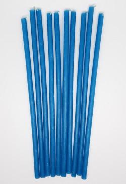 Vaska sveces – zilas 10 gab. - 30 minūtes