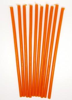 Восковые свечи оранженые 10 штук - 30 минут