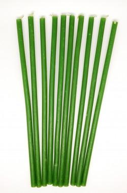 Vaska sveces – zaļas 10 gab. - 30 minūtes