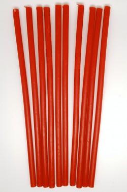 Восковые свечи красные 10 штук - 1 час